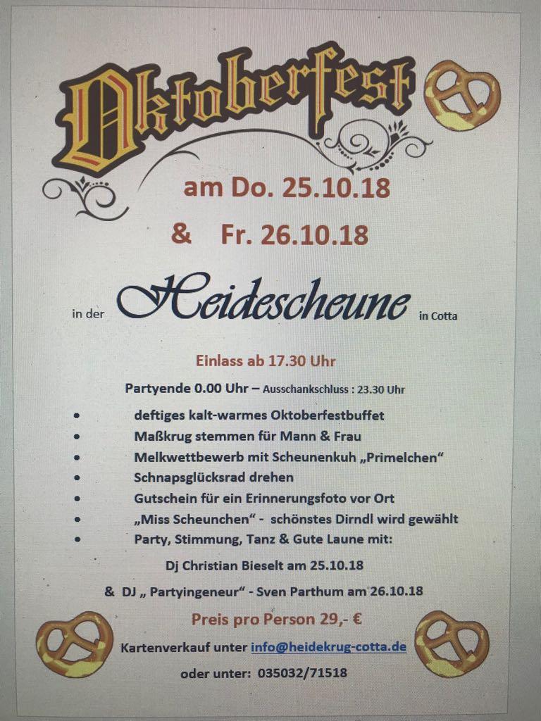 Heidekrug Cotta Oktoberfest